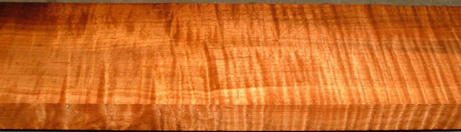 QRM2001-15, 1-1/4x4x54, Roasted Torrefied, Curly Tiger Quartersawn Maple