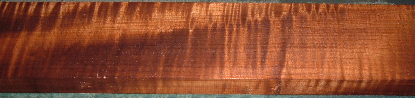 QRM2001-20, 1-3/16x3-7/8x51, Roasted Torrefied, Curly Tiger Quartersawn Maple