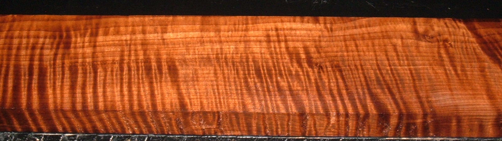 QRM2003-74, 1x4x36, Roasted Torrefied, Curly Tiger Quartersawn Maple