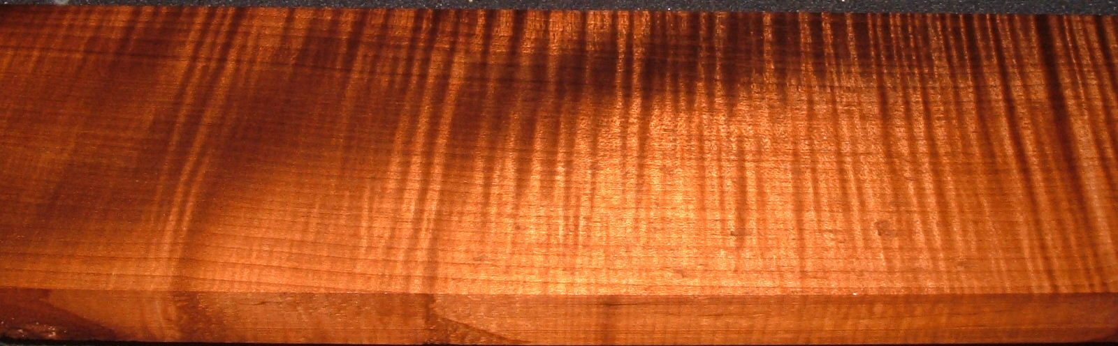 QRM2005-146, 1x4-1/2x43, Quartersawn Roasted Curly Maple