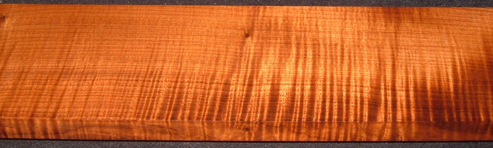QRM2005-153, 7/8x5x50, Quartersawn Roasted Curly Maple