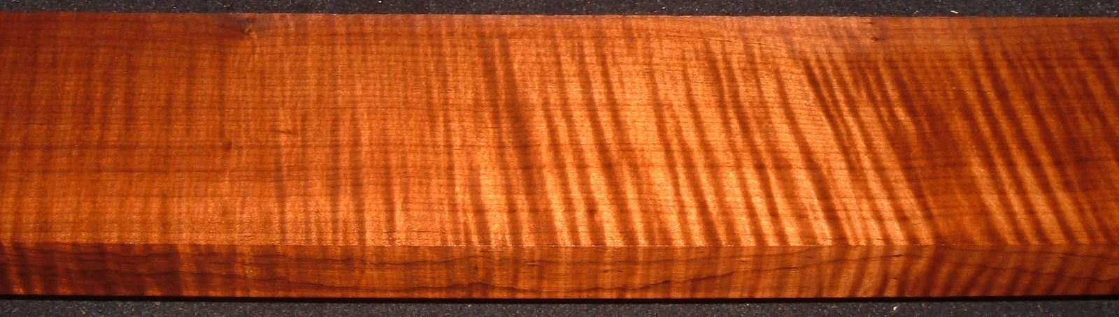 QRM2005-155, 1-1/8x4-1/4x54, Quartersawn Roasted Curly Maple