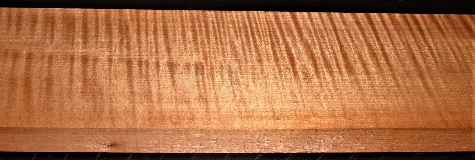 QRM2009-234JK, 1-3/16x5x48, Roasted Torrefied, Curly Tiger Quartersawn Maple