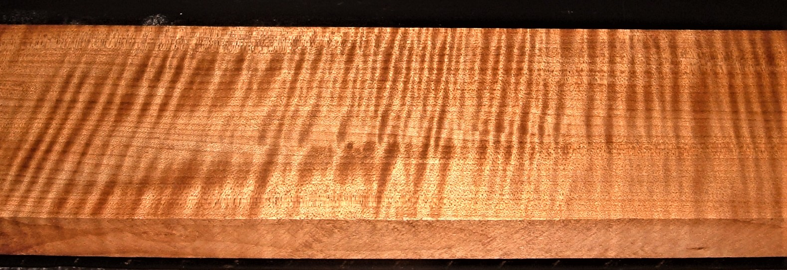 QRM2009-235JK, 1-1/8x4-7/8x47, Roasted Torrefied, Curly Tiger Quartersawn Maple