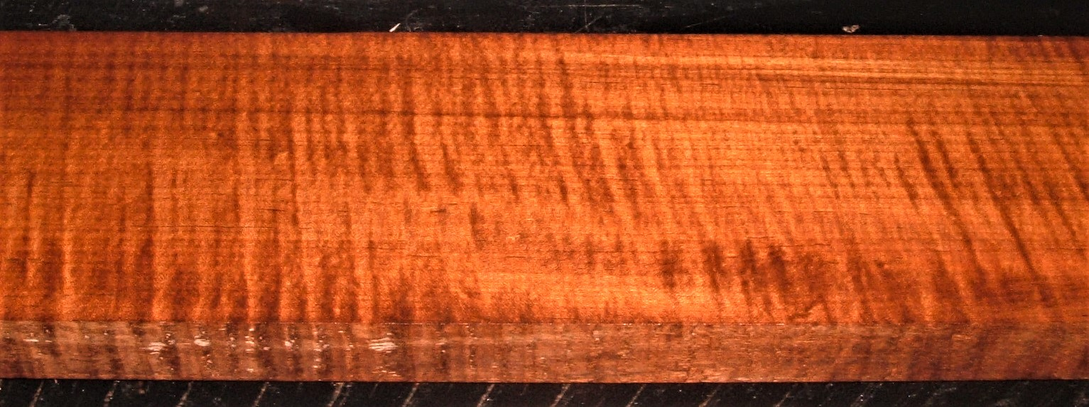 QRM2009-236JK, 1-5/16x5-1/2x48, Roasted Torrefied, Curly Tiger Quartersawn Maple