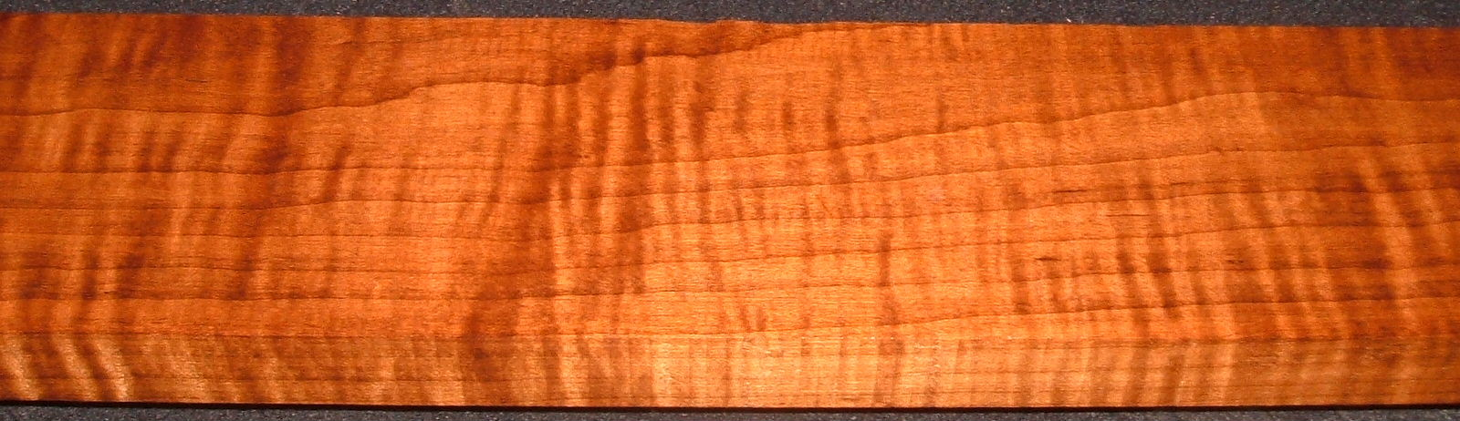 RHM2010-324,  1x4x47, Roasted Torrefied Curly, Tiger Maple, Roasted Hard Maple