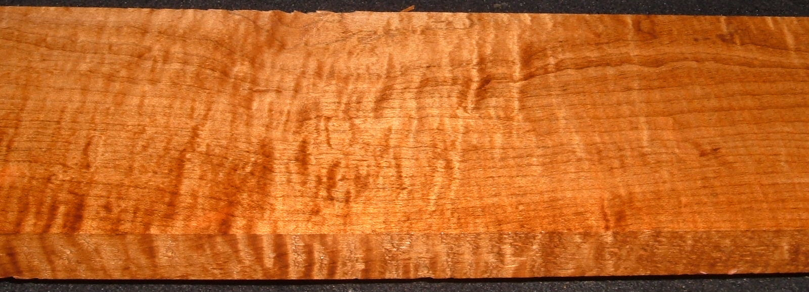 RHM2010-335,1x4-1/2x34, Roasted Torrefied Curly, Tiger Maple, Roasted Hard Maple