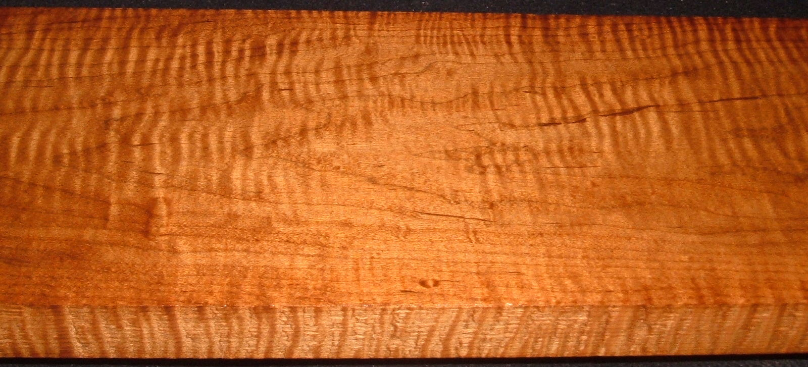 RHM2010-336,1-3/16x6x41, Roasted Torrefied Curly, Tiger Maple, Roasted Hard Maple
