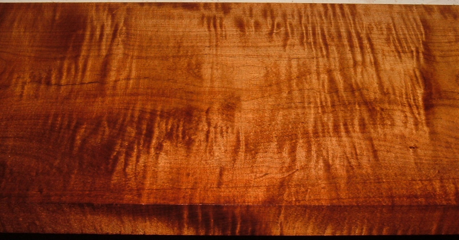 RM1908-35, 1-5/8x11-1/4x43, Roasted Torrefied, Curly Tiger Maple