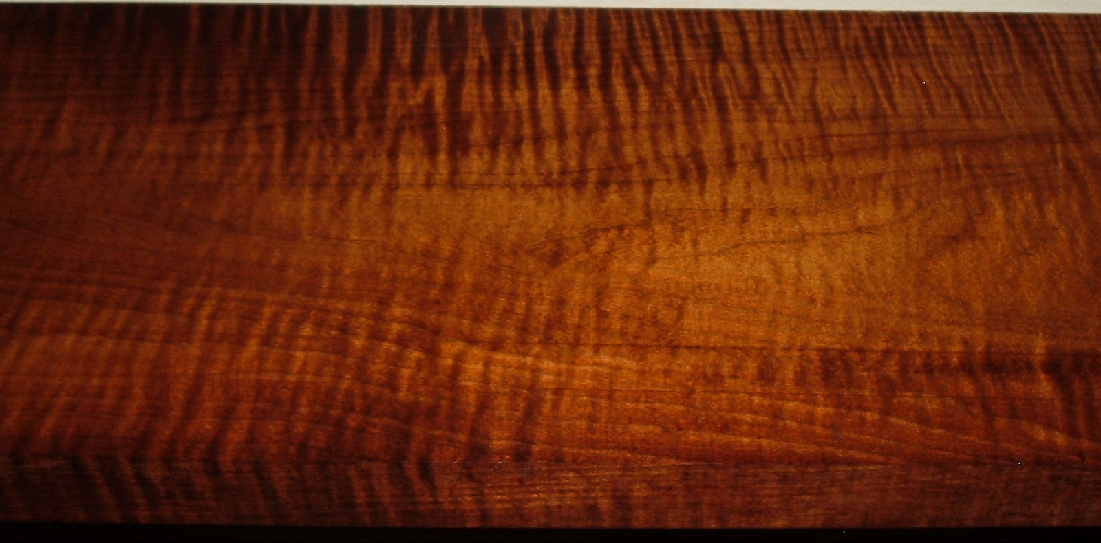 RM2004-102, 1-3/16x7-5/8x46, Roasted Torrefied Curly, Tiger Maple