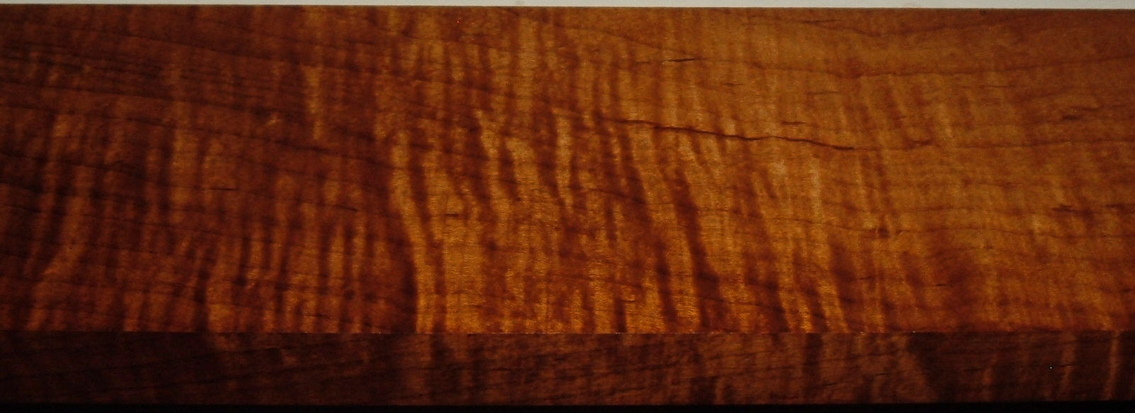 RM2004-104, 1-1/16x4x38, Roasted Torrefied Curly, Tiger Maple
