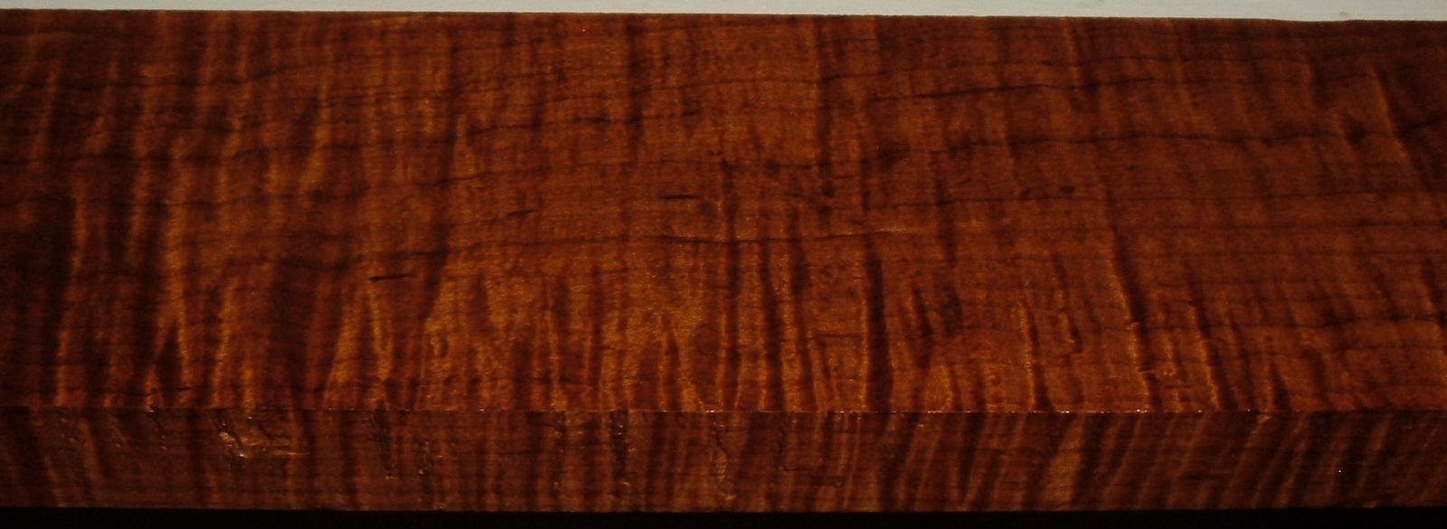 RM2004-105, 1-1/4x4x38, Roasted Torrefied Curly, Tiger Maple