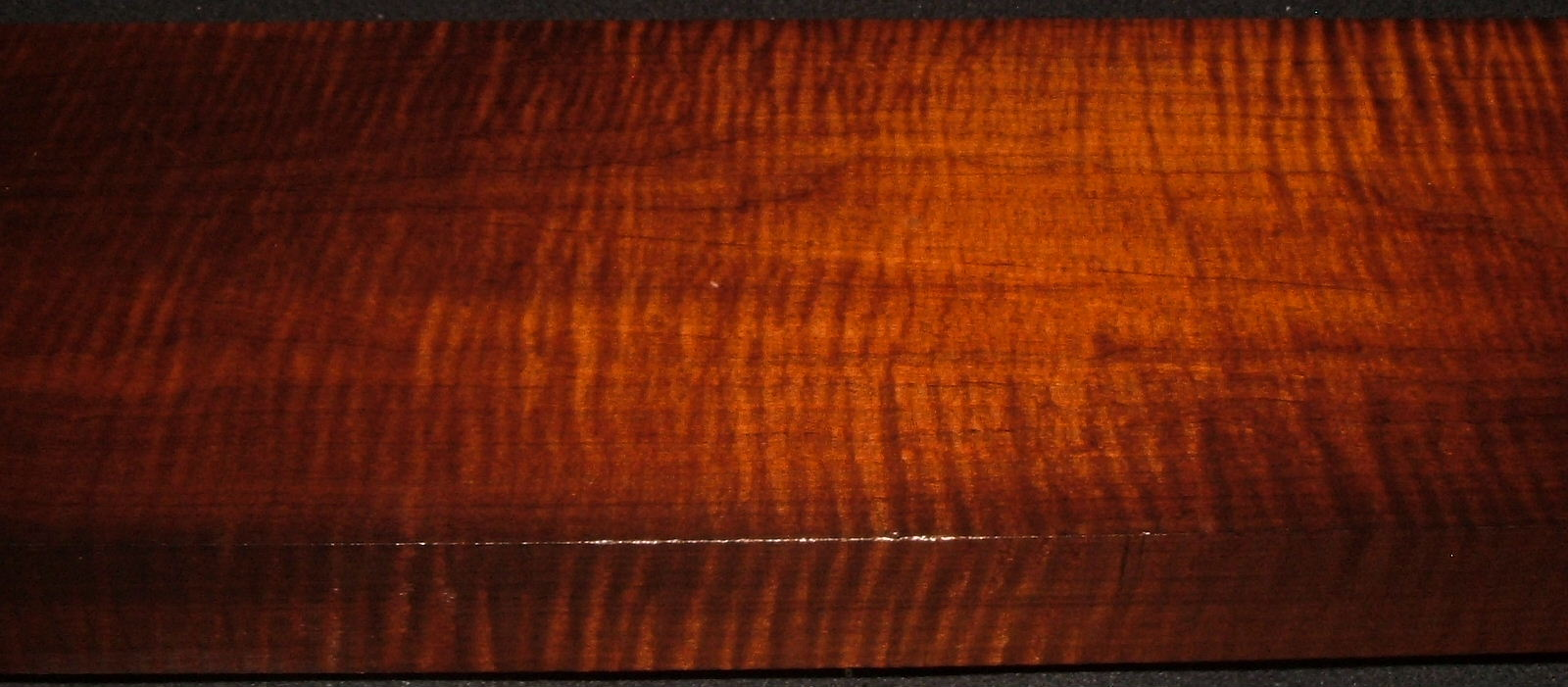 RM2004-122, 1-3/4x7-7/8x43, Roasted Torrefied Curly, Tiger Maple