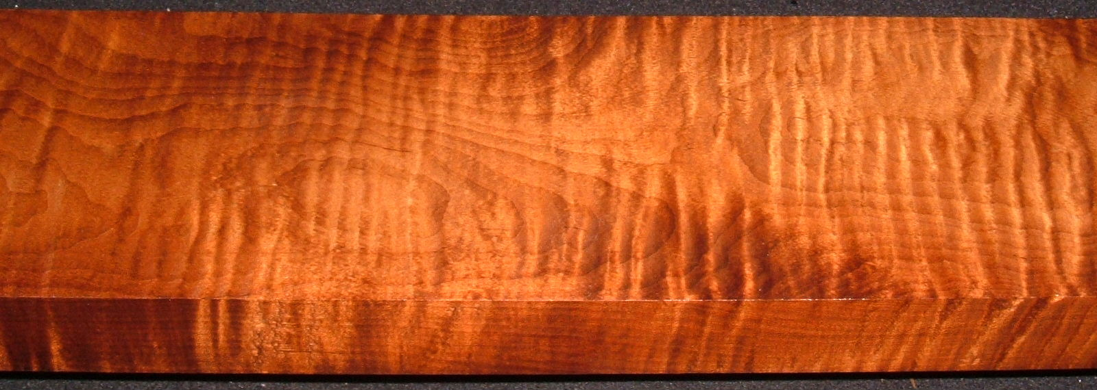 RM2004-98, 1-7/16x5x45, Roasted Torrefied Curly, Tiger Maple