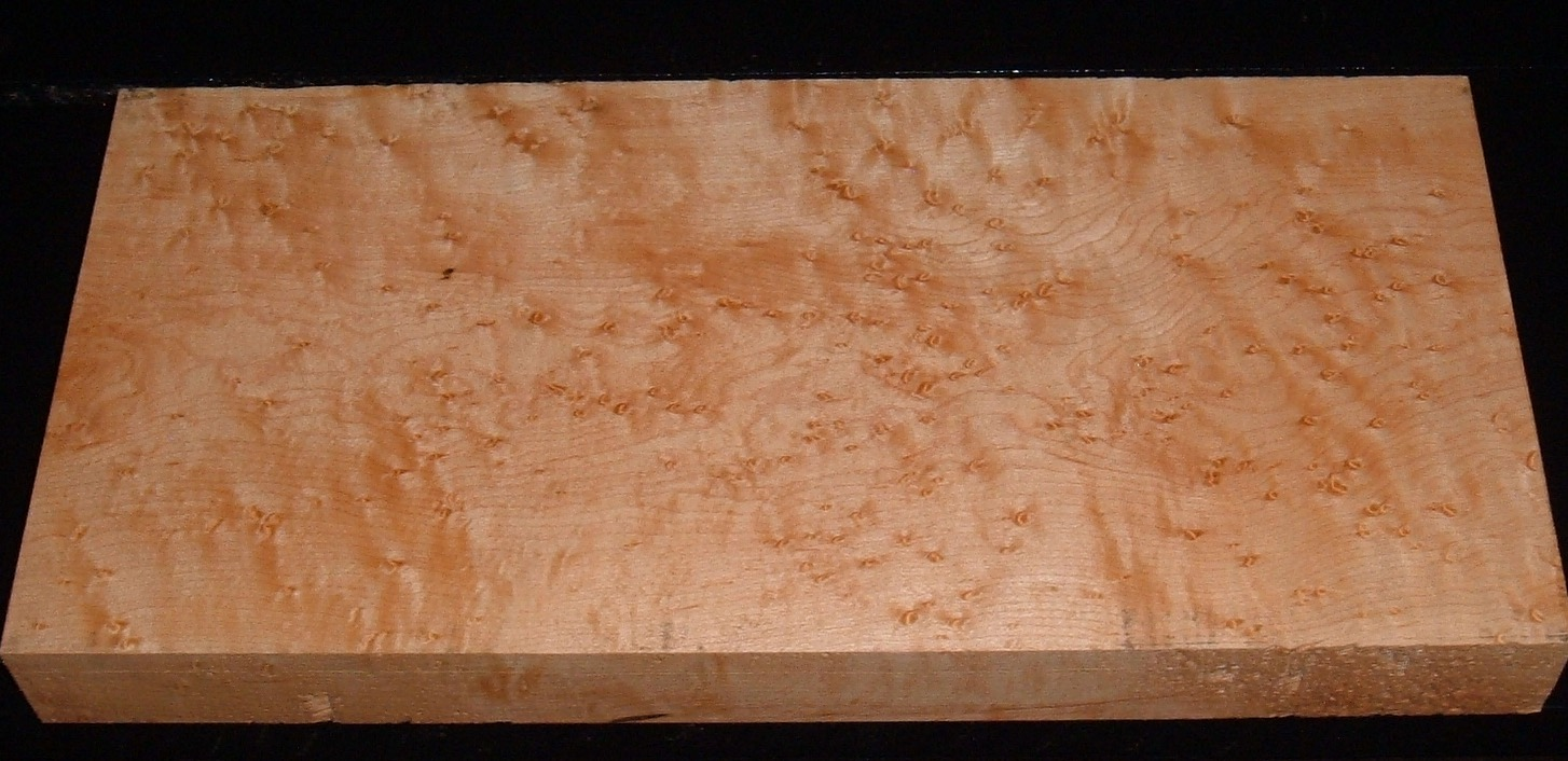 S-2163, 1-9/16x7-5/8x16, 6/4 Figured Birdseye Maple