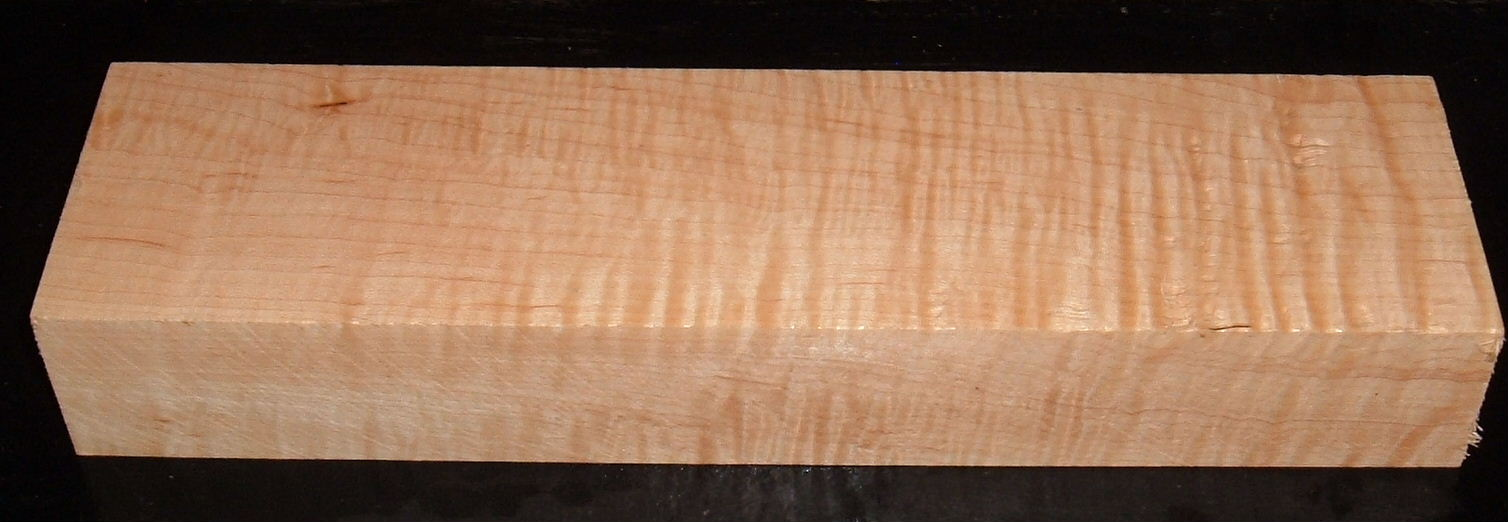 S-2211, 1-13/16x3-1/4x12, Curly Tiger Hard Maple, Wood Block