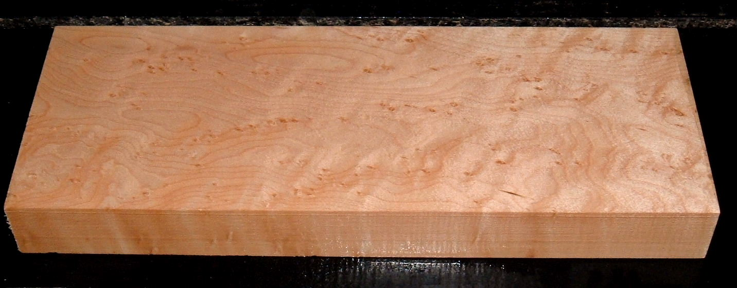 S-2212, 1-3/8x4-3/4x12, Birdseye Maple, Wood Block