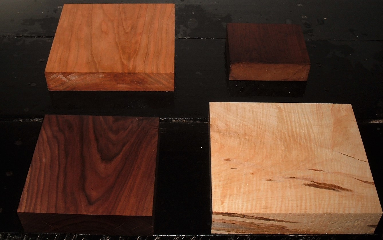 HP-2381Y, 8/4 Variety of Figured Hardwoods Lumber Craft Board Hobby Pack