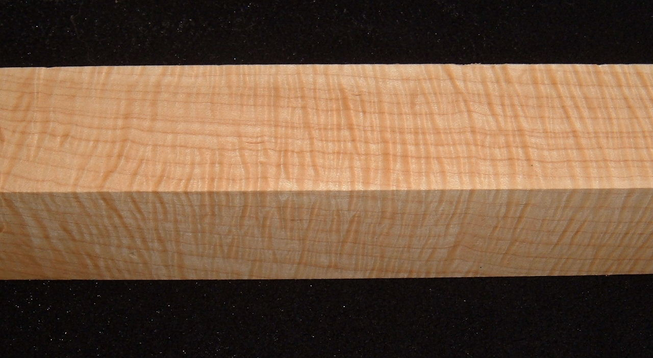 S-2419e, 1-13/16x1-13/16x11+, Curly Tiger Maple, Turning Square/Block