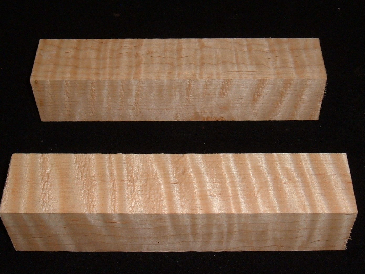 MS-2916n,(2) 1-13/4x1-3/4x8, Curly Tiger Maple, turning blocks