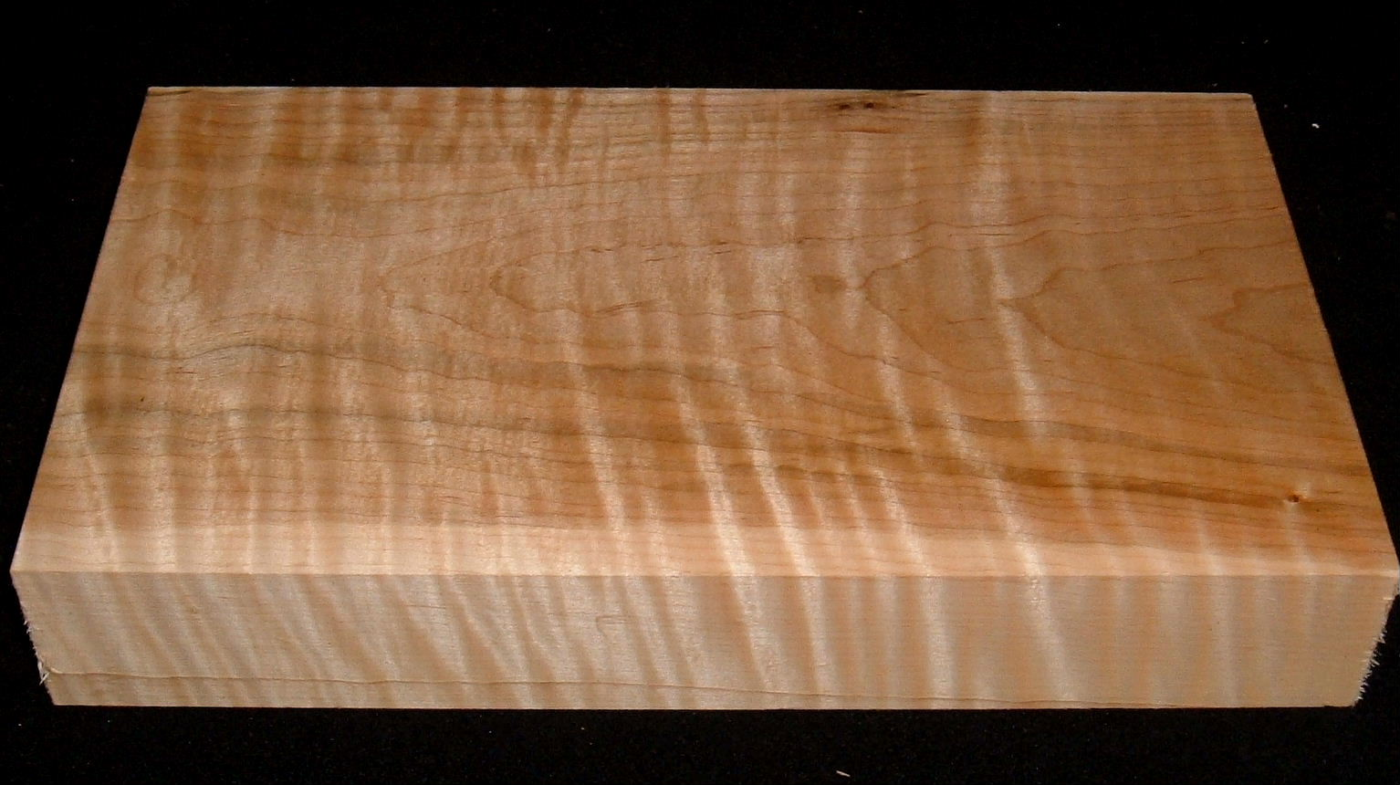 HWS-2918n, 1-7/8x6-7/8x12+, Curly Tiger Maple, Heartwood/Sapwood Blend, Turning Wood
