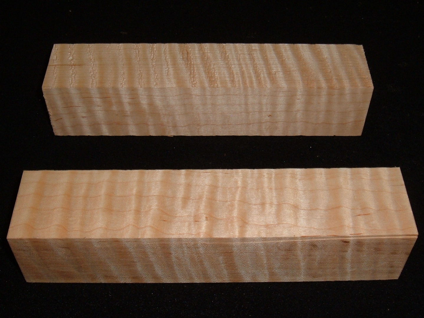 MS-2920n,(2) 1-3/4x1-3/4x8, Curly Tiger Maple, turning blocks