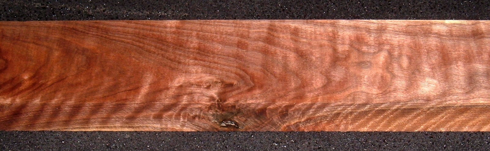 S-2475, 1-3/16x3x30, Curly Black Walnut, Wood Turning Block