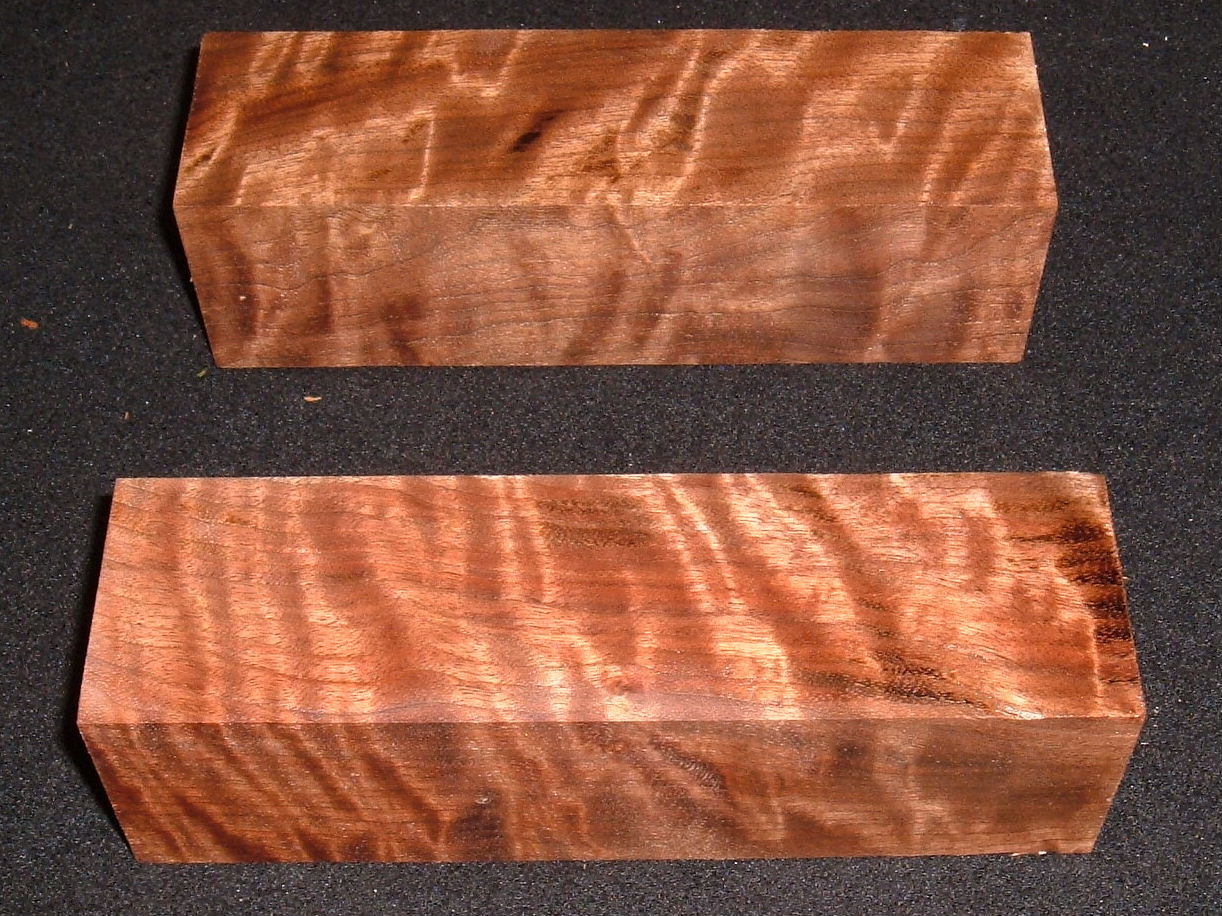 S-2526e, (2) +2-1/4x +2-1/4x8, 8/4 Curly Black Walnut, Turning Wood