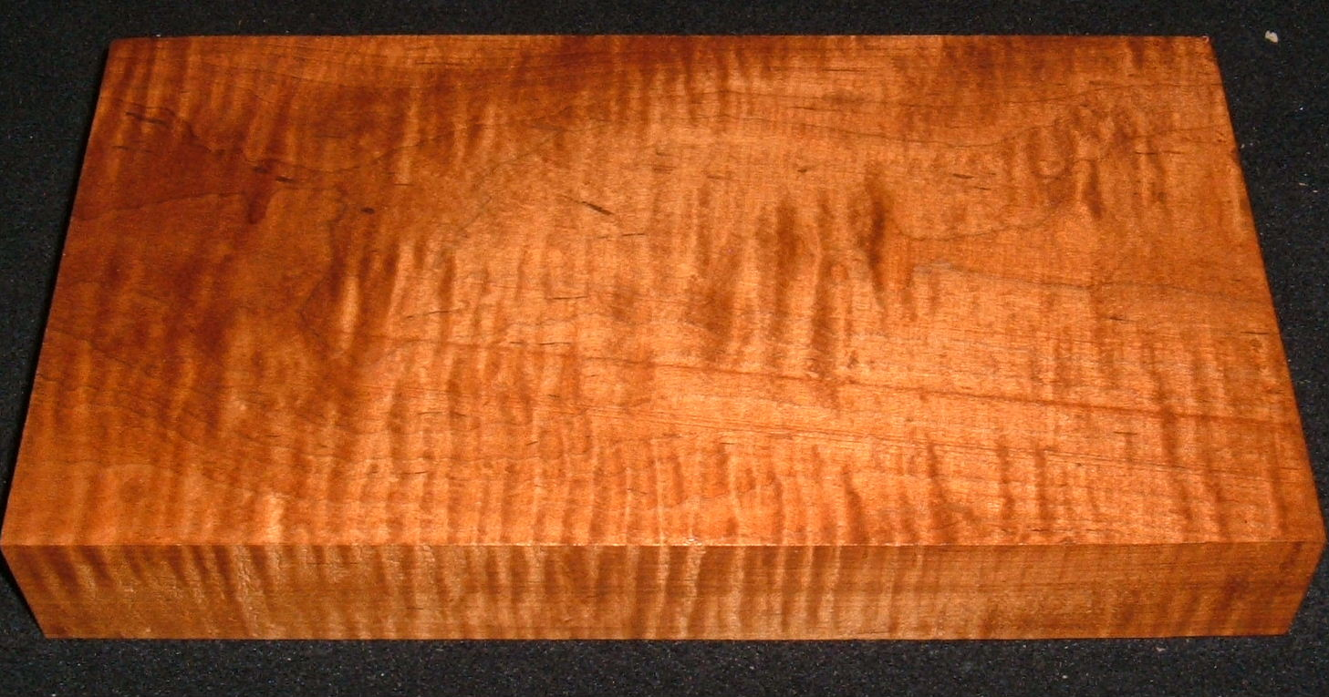 S-2527e, 1-5/8x6-1/4x11-1/2, Curly Tiger Roasted Maple