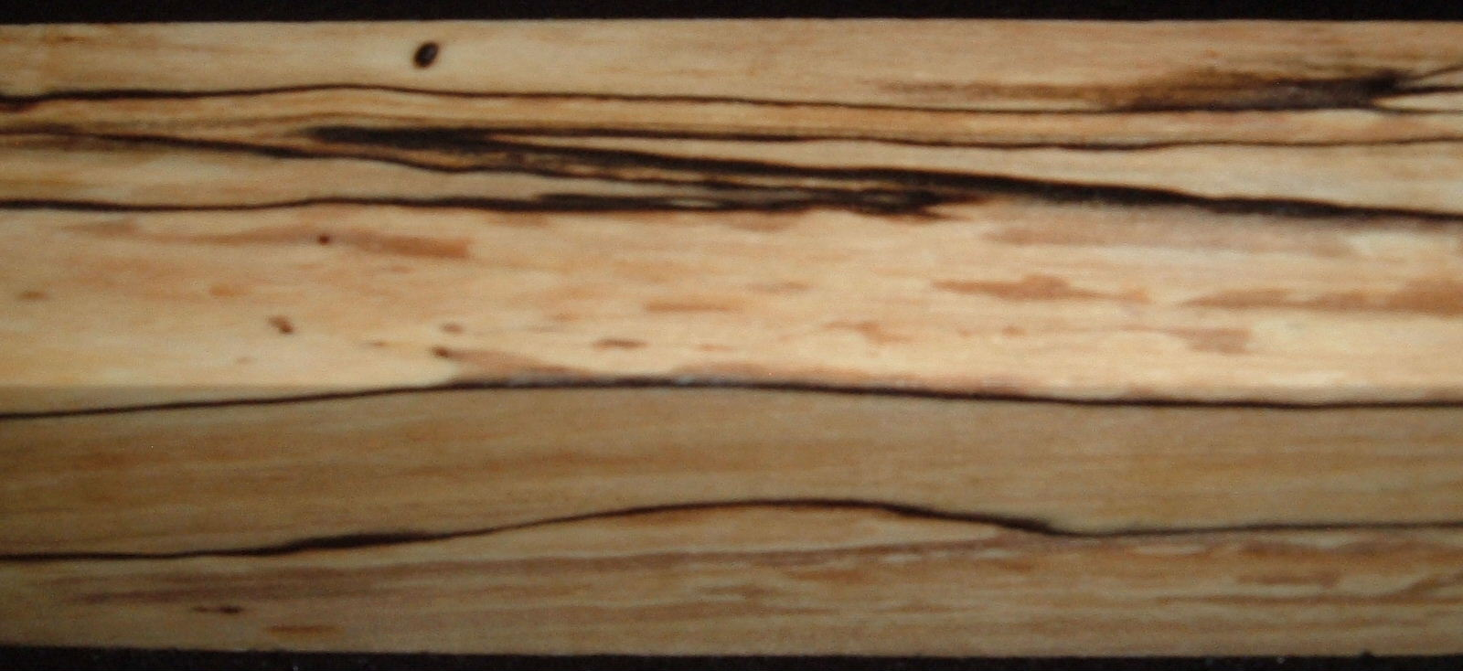 Z479, Spalted Maple Dyed Stabilized, wood turning block, Clear, 1-5/8x1-5/8x7-1/4