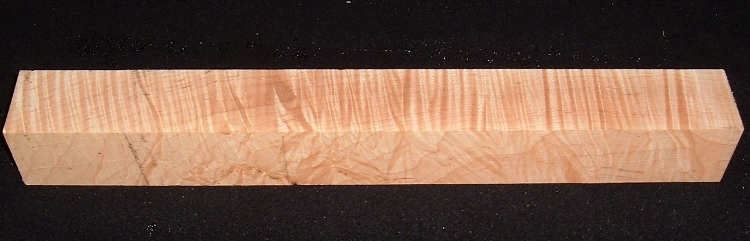MS-2200, 1-13/16x1-13/16x18, Curly Tiger Maple, Turning Square