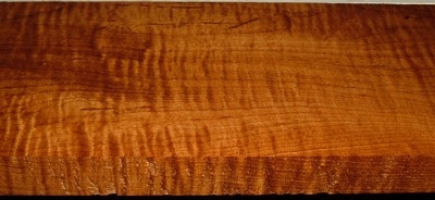RHM2003-58, 1-1/8x5-1/4x33, Roasted Torrefied, Curly Tiger Hard Maple