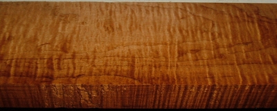 RHM2003-60, 1-1/4x4-1/4x39 Roasted Torrefied, Curly Tiger Hard Maple