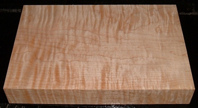 S-2215, 1-11/16 x7-1/2x11+, Curly Tiger Maple, Wood Turning Block
