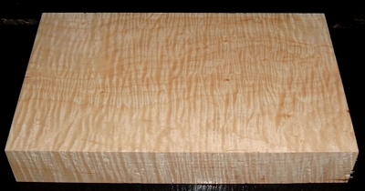S-2227, 1-5/8x6-1/4x10+, Curly Tiger Maple, Wood Turning Block