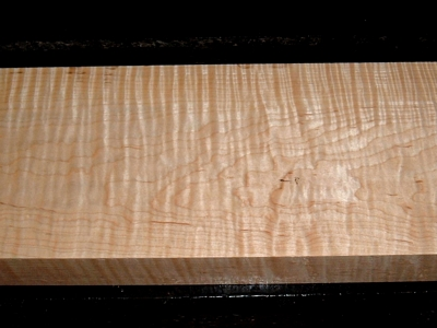 S-2242, 1-3/4x6-1/8x20+, Curly Tiger Maple, Wood Block