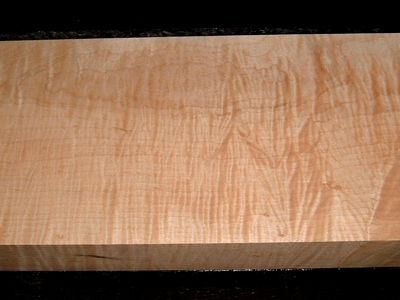 S-2243, +1-7/8x6-7/8x19-1/2, Curly Tiger Maple, Wood Block
