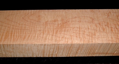 S-2245, 1-7/8x3-7/8x22, Curly Tiger Hard Maple, Wood Block