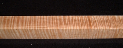 S-2404, 2x2x35+, Curly Tiger Maple, Turning Square Block