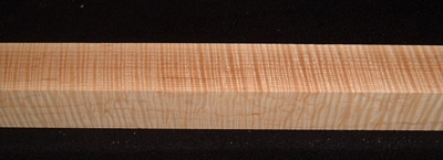 S-2406, 2x1-7/8x29+, Curly Tiger Maple, Turning Square Block