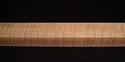 S-2407, 1-7/8x1-7/8x23, Curly Tiger Maple, Turning Square Block
