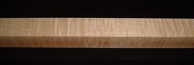 S-2408, 1-7/8x1-7/8x28, Curly Tiger Maple, Turning Square Block