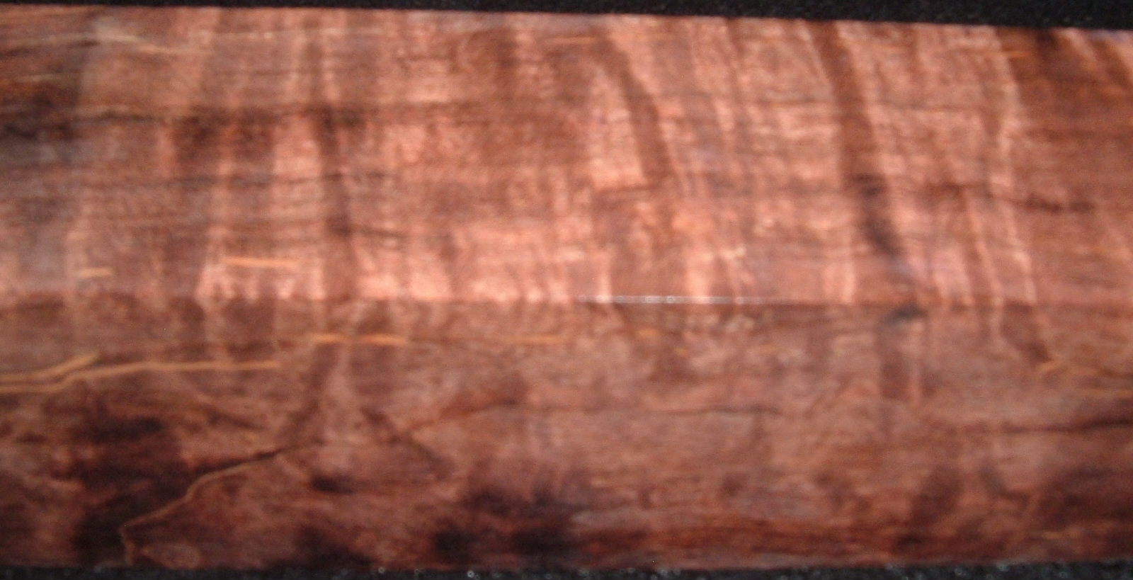 Z145, 1-1/2x1-1/2x6, Brown, Curly Tiger Maple Dyed Stabilized, wood turning block