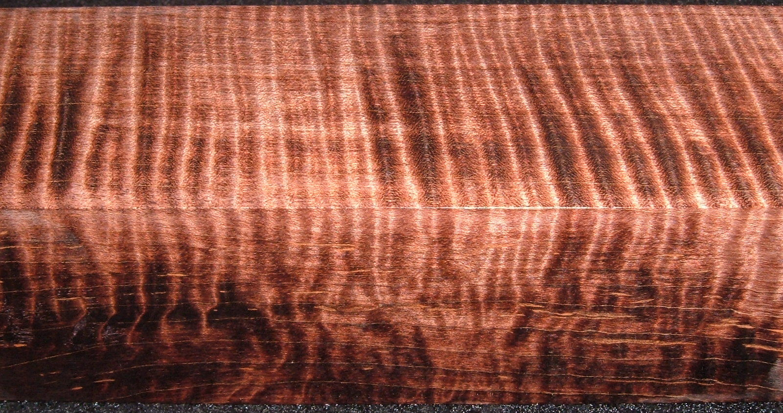 Z203, 1-7/8x1-7/8x7-1/2, Brown, Curly Tiger Maple Dyed Stabilized, wood turning block