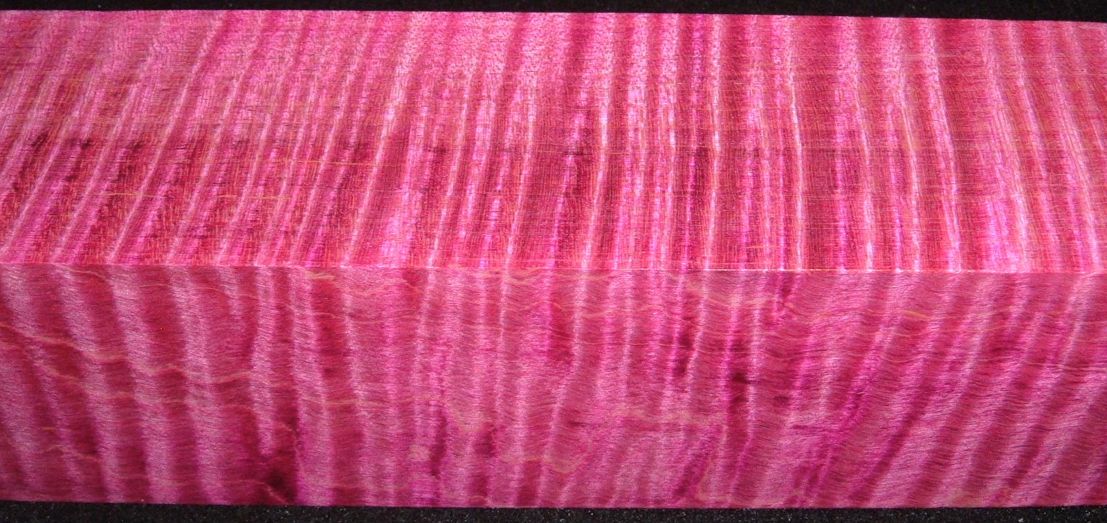 Z316, 1-7/8x1-7/8x7-1/4 ,Magenta, Curly Tiger Maple Dyed Stabilized, wood turning block