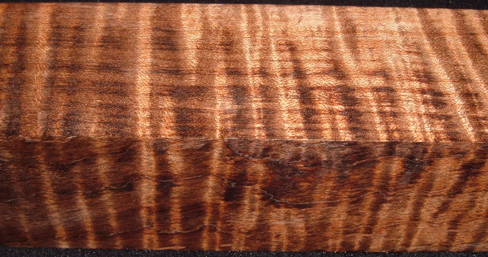 Z323, 1-3/4x1-3/4x7-1/4 ,Brown, Curly Tiger Maple Dyed Stabilized, wood turning block