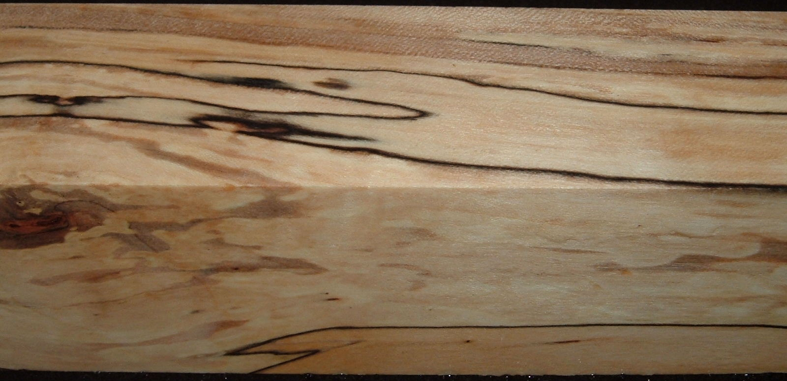 Z326, 1-5/8x1-5/8x7-1/4 ,Clear, Spalted Maple Dyed Stabilized, wood turning block