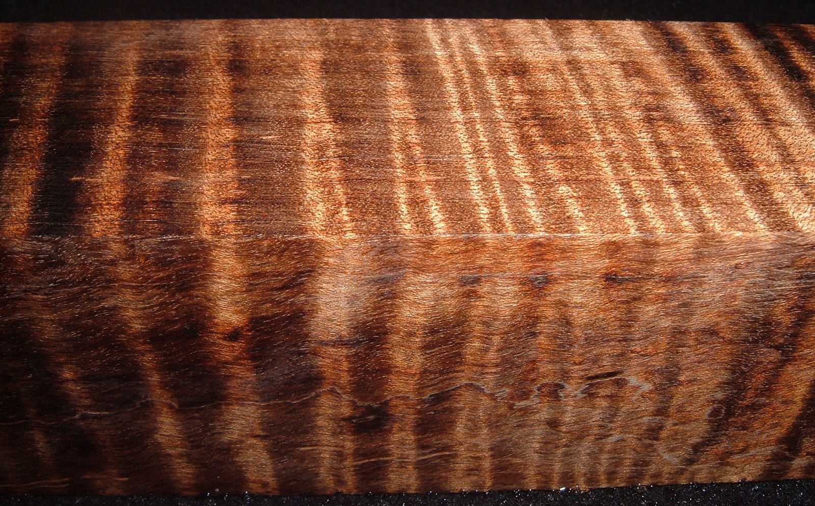 Z522, 1-7/8x1-7/8x7-1/4, Brown, Curly Tiger Maple Dyed Stabilized, wood turning block