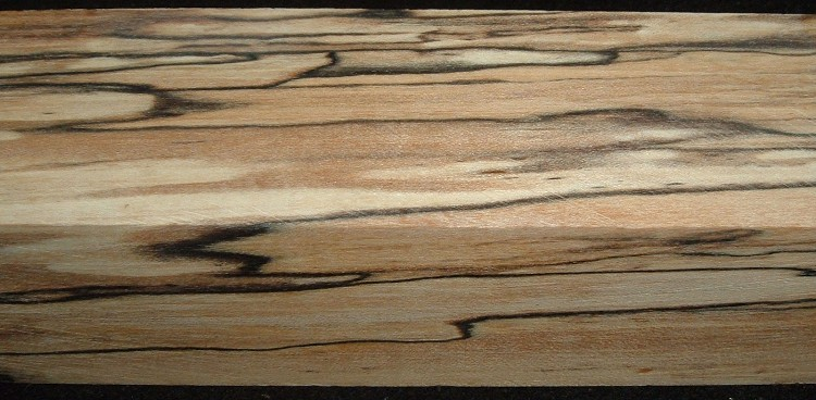 Z375, Spalted Maple Stabilized, wood turning block, Clear, 1-3/4x1-3/4x7-1/4