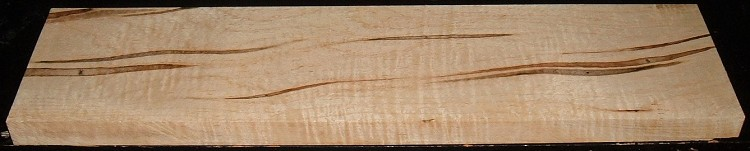 AMS2005-2550JJ, 1-1/8x6-5/8x25, Curly Tiger Ambrosia Maple